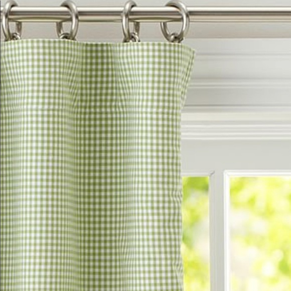 pottery barn kids 6 gingham blackout curtains